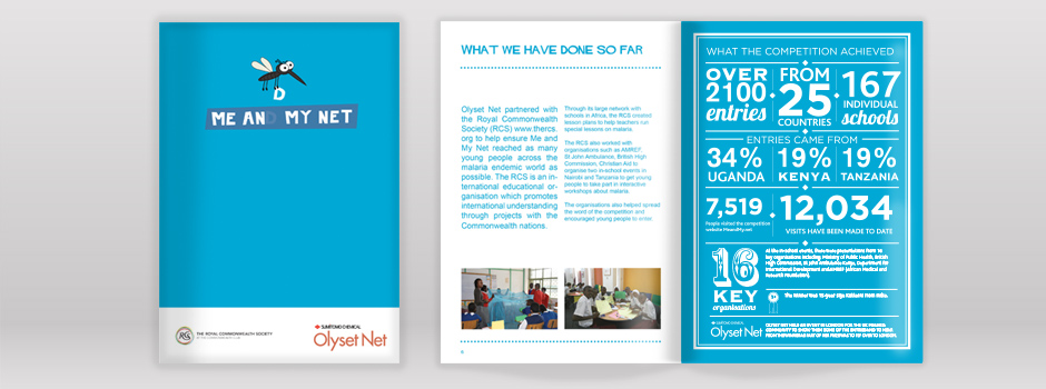 Sumitomo Chemical: Me and My Net Booklet Infographic